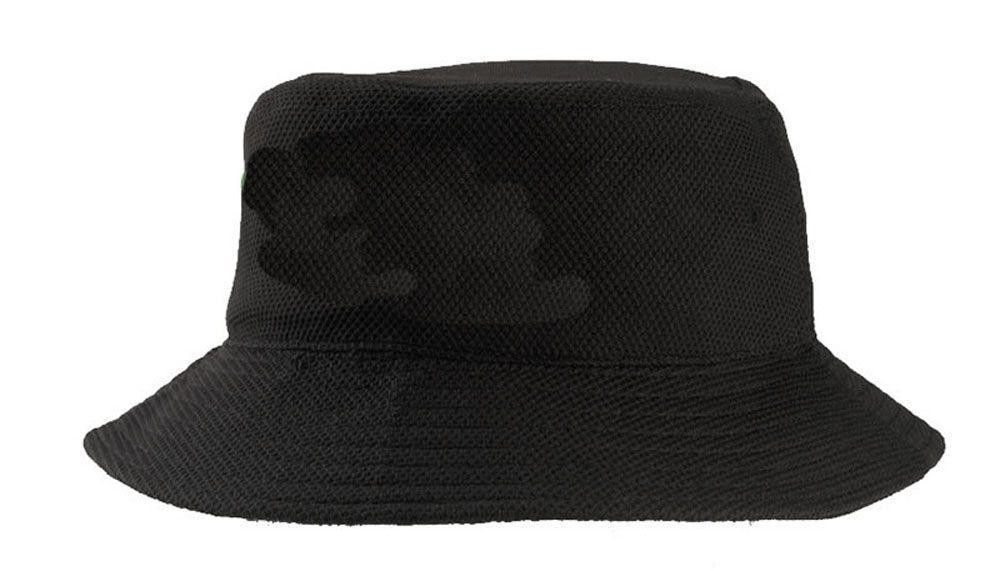 Black / Navy Summer Mesh Bucket Hats , Pink Digital Printing Youth Bucket Hat