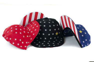 b5a7d02c362 Flat Visor Snapback Baseball Caps With USA Stars Strips Patterns Adjustable  Sizes