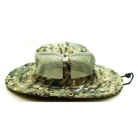 Breathable Vented Mesh Cotton Bucket Hat For Men Camouflaged Patterns Available