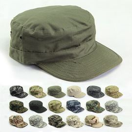 Unisex Casual Cotton Flat Top Army Cap Protecting Head / Dancing Available