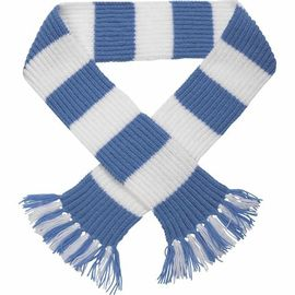 50cm Winter Wool Free Striped Scarf Knitting Pattern With Embroidery Logo