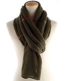 True Fair Trade Thick Winter Infinity Scarf , Green / Blue Wool Ladies Knitted Scarves