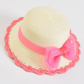 Sunshade Ladies Travel Beach Hat , Wide Brim Women's Straw Gardening Hats