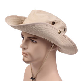 Mens Cotton Broad Brimmed Hat For Summer Outdoor Poly String Sweatband