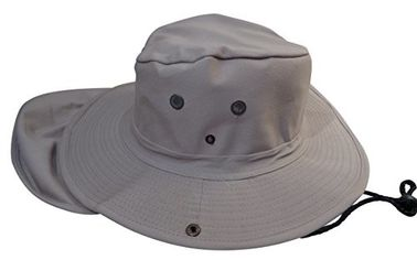 Mens Wide Brim Aussie Sun Hat , Hidden Pocket Beige Wide Brim Hat For Women